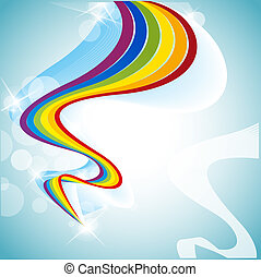 rainbow - abstract background with a colored ribbon