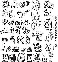 Set of sketch elements for design