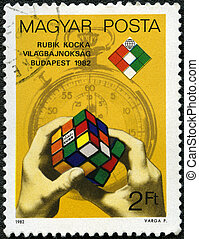 HUNGARY - CIRCA 1982: A stamp printed by Hungary, devoted...