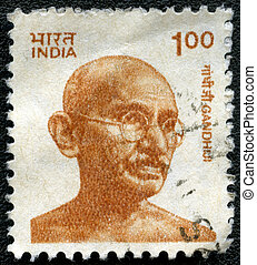 INDIA - CIRCA 1991: A stamp printed in India, shows portrait...
