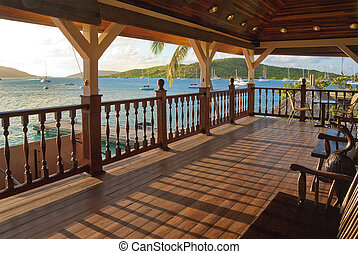 Balcony over caribbean - Large balcony overlooking caribbean...