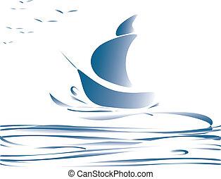 blu, barca