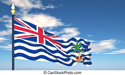 Flag Of British Indian Ocean Territory on the background of...