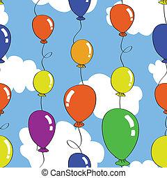 seamless, balão, Padrão