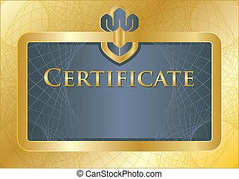 Certifikate blue/gold - Background/model of...