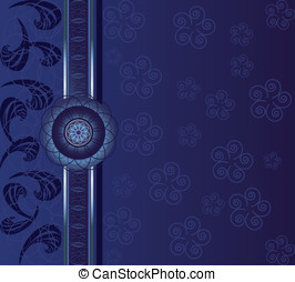 Background indigo - Luxury vector background