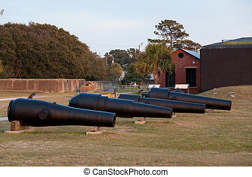 Multiple Historic War Cannons - Multiple historic war...