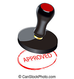 Seal. Approved - Seal on a white background. Approved. A...