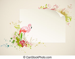 Banner with flamingo