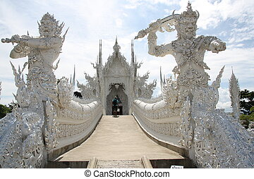 The White Temple in Thailand - Beautiful ornate White Temple...