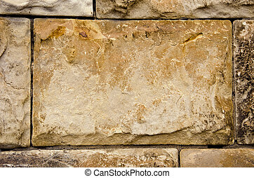 ancient building walls of stone blocks background - ancient...