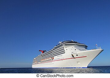 cruise ship in the Carribean
