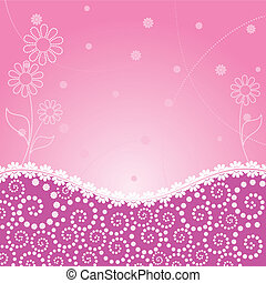 abstract flower pink frame - frame decorated abstract flower...