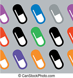 wallpaper of pills - illustration of seamless wallpaper of...