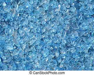 Blue Glass background - blue broken glass background