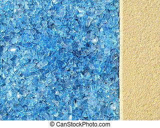 Background contrast - Background image showing frosty blue...