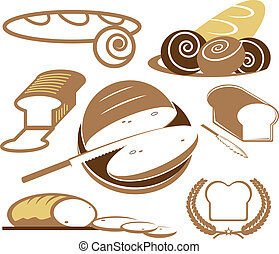 Bread Collection - A clip art collection of various types of...