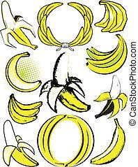 banan, zbiór