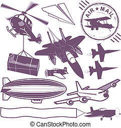 Aircraft Collection - A clip art collection of various types...