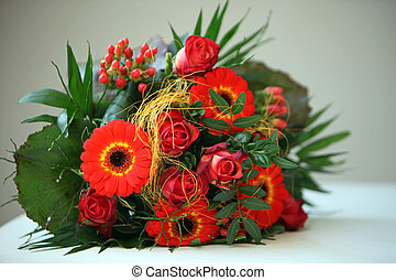 Colourful Floral Bouquet - Colourful floral bouquet of...