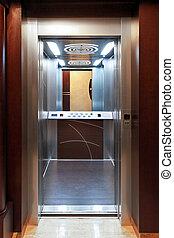 Elevator - Open door at new modern elevator