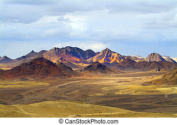 Magnificent landscape. Desert Sinai in the beginning of...