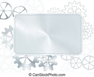 silver frame with gear