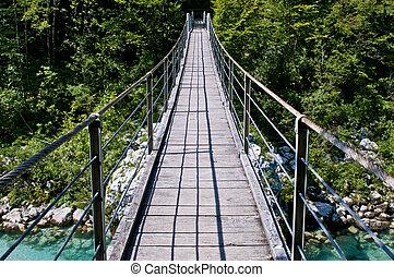 Bridge - A bridge over a river in Europe
