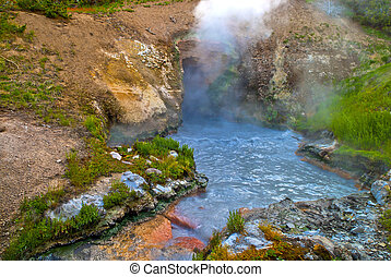 Dragons Mouth Spring at Yellowstone National Park
