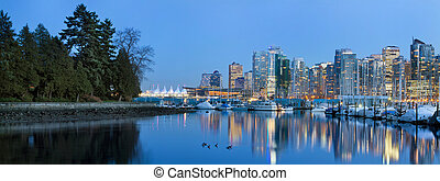 Vancouver BC Skyline from Stanley Park - Vancouver BC Canada...