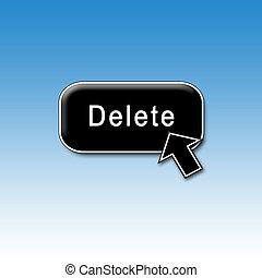 Delete button and cursor