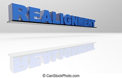 Realignment 3D Text -