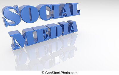Social Media 3D text - XXXL - high quality three dimensional...