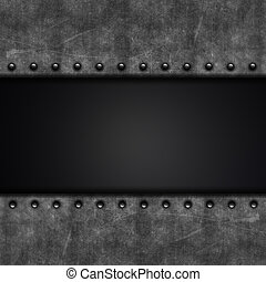 Metal and carbon fibre - Grunge background with metal...