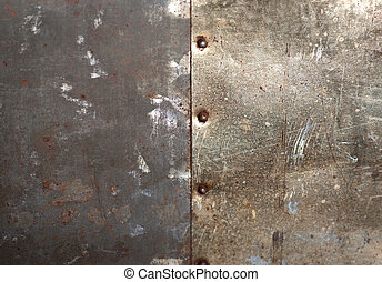 Bolts on metal - Rusty bolts on grunge metal background
