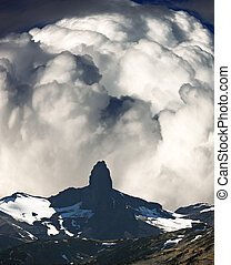 Black Tusk with clouds
