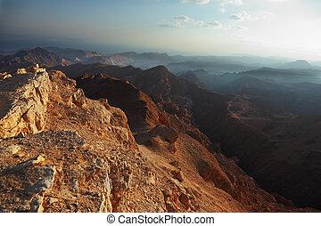 Morning fog in desert Sinai Winter easy clouds