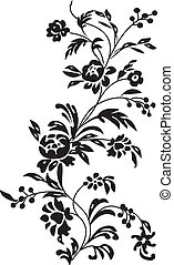 the vector floral background