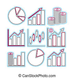 Graphs - Vector icon graph sample. Vector Illustration EPS...