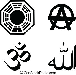the vector religion symbol set