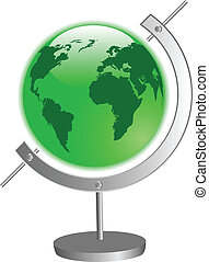 the vector green globe
