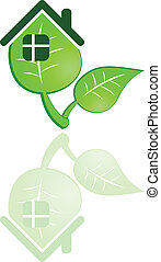 the vector green leaf on white