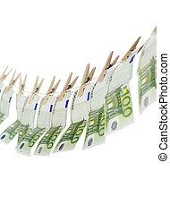 Laundering money