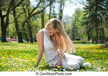 Happy smiling teen girl outdoors