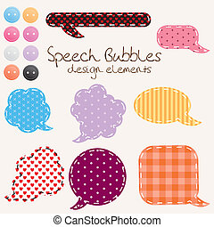 speech_bubbles - set of different speech bubbles, design...