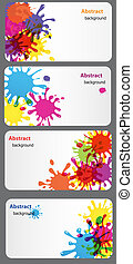 business card with Colored blots vector illustration
