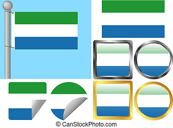 Flag Set Sierra Leone