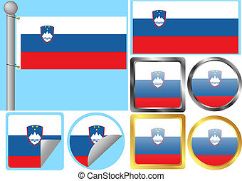 Flag Set Slovenia