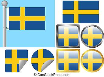 Flag Set Sweden