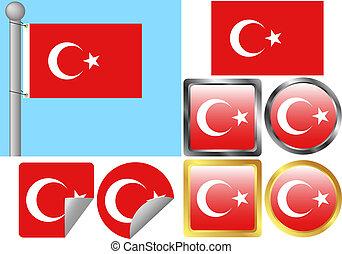 Flag Set Turkey